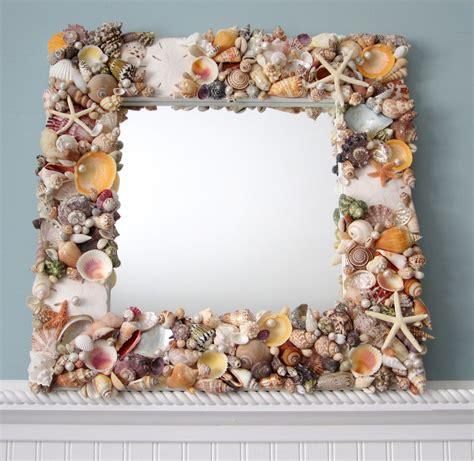 Wood Starfish Wall Decor by Seashell Mirror Beach Decor Shell Mirror Nautical Decor
