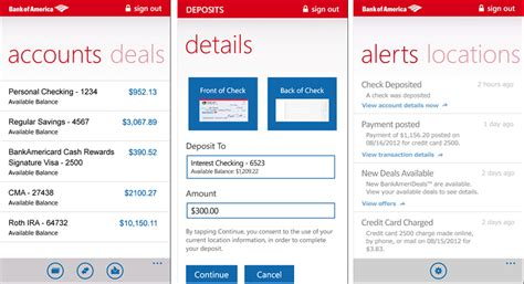bank of america phone app bank of america adds mobile check deposit to the windows