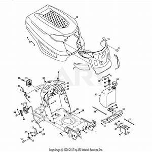 Troy Bilt 13an77ks011 Pony  2013  Parts Diagram For Hood