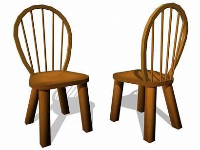 Chair Cartoon Clip Chairs Clipart Cliparts Wooden