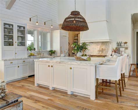white beach style kitchen  shiplap home bunch