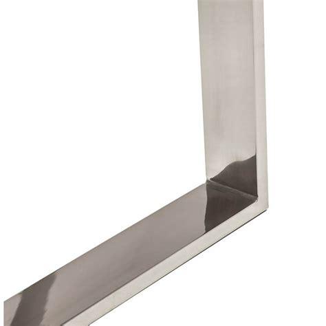 bureau verre et acier bureau droit table design et contemporain ingrid en verre