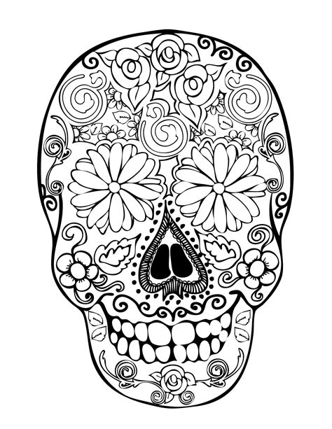 28 Skull Coloring Pages For Kids Print Color Craft