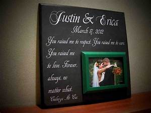 Wedding gift ideas for parents of the bride and groom for Parents gifts for wedding from bride and groom