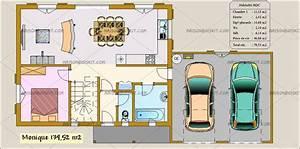 Plan maison a etage avec garage for Plan de maison gratuit 4 chambres