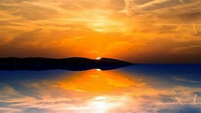 Sunset Orange Wallpapers 1080 Sun Mountain 1440