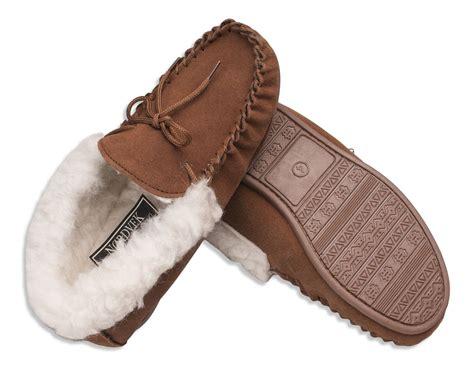 Nordvek Ladies Genuine Suede Moccasin Slippers Sheepskin
