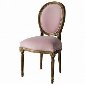 Chaise Medaillon But : chaise m daillon en velours rose louis maisons du monde ~ Teatrodelosmanantiales.com Idées de Décoration