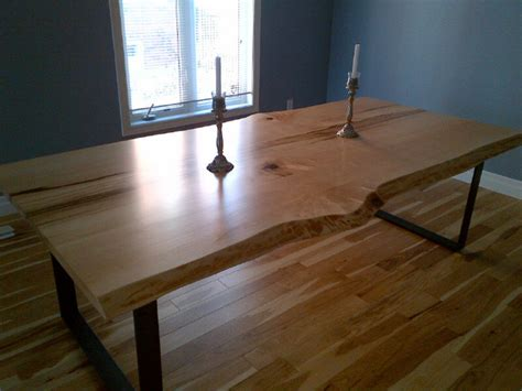 toronto live edge wood dining room tables traditional