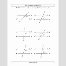 Cointerior Angle Relationships (a