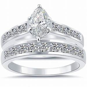 3 08 ct g vs2 marquise cut diamond engagement ring wedding With marquise cut diamond wedding ring sets
