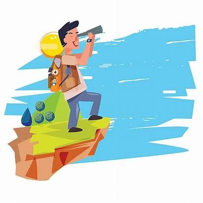 Explorer Telescope Cartoon Safari Binoculars Adventure Backpacker