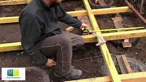 construction plancher exterieur bois planchers bois With amazing jardin gravier comment faire 8 construction de notre dalle pour abri de jardin notre