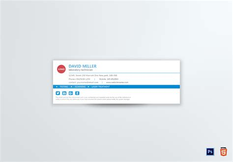Gmail Signature Template Gmail Email Signature Design Template In Psd Html