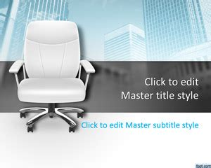 office chair powerpoint template  template