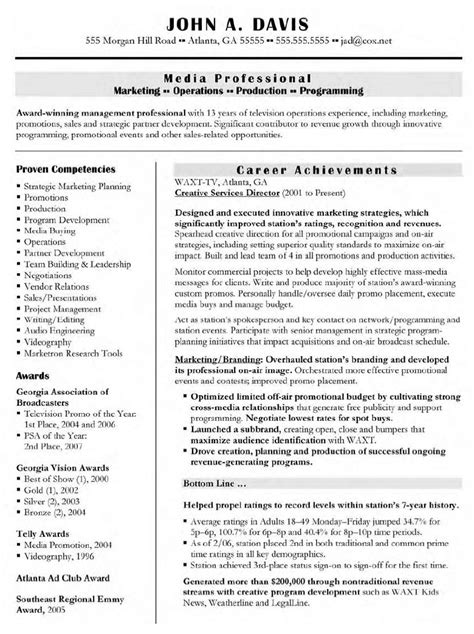 Creative Director Resume Skills by Creative Director Resume Sles Free Resumes Tips
