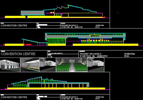 convention center dwg full project  autocad designs cad