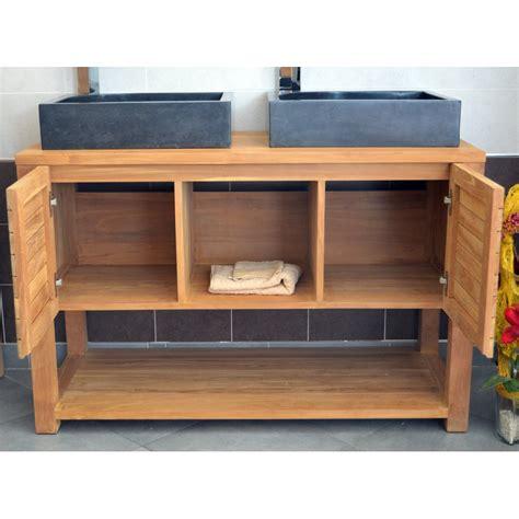 meuble sous vasque en teck 120 cm mrc002 120