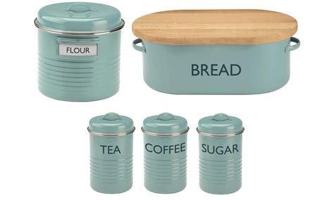 typhoon kitchen accessories typhoon vintage kitchen blue storage containers groupon 2998
