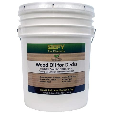 Olympic Deck Cleaner Walmart by Defy Wood For Decks 5 Gallon Tone