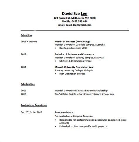 Accounting Resume Trigger Words by Sle Accountant Resume 12 Free Documents In