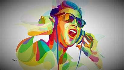 Abstract Boy Dj Wallpapers Colorful Artist 4k