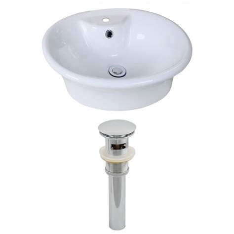 Home Depot Vessel Sink Drain by American Imaginations 19 Inch W X 15 Inch D Oval Vessel