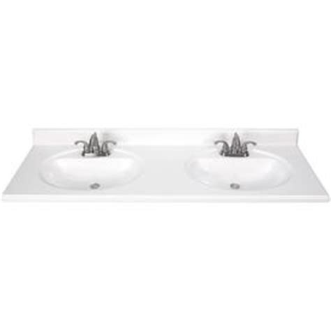 49 double sink vanity top shop white cultured marble integral double sink bathroom