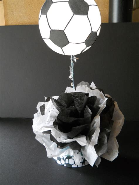 table decorations  soccer banquet soccer decorations