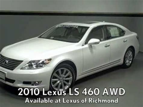 where to buy car manuals 2010 lexus ls hybrid electronic throttle control 2010 lexus ls 460 awd available at lexus of richmond youtube