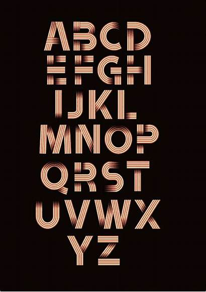Fonts Alphabet Ribbon Typography Designs Font Bold