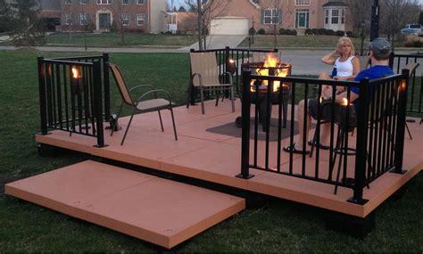 Portable Porches by Udecx Modular Portable Outdoor Patio Decking System