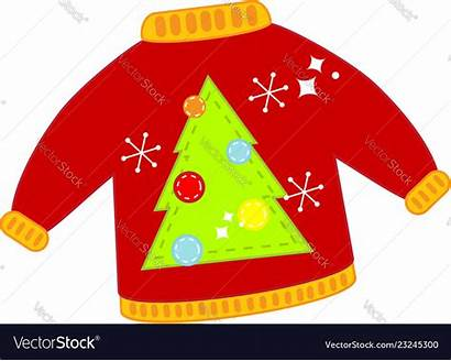Ugly Sweater Clip Christmas Vector Isolated