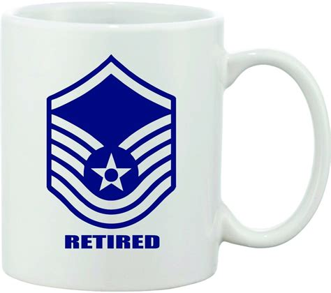 According to a recent feature on the air mobility command website, we find this news item: AIR FORCE Master sergeant COFFEE MUG UNITED STATES E7 RETIRED MILITARY AIRFORCE | eBay