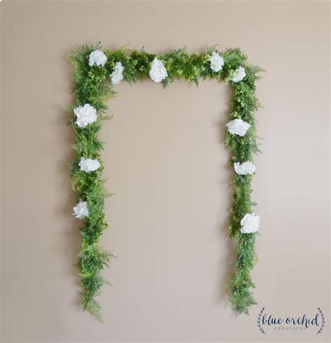 wedding backdrop flower garland greenery garland
