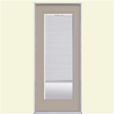 masonite 32 in x 80 in mini blind painted steel prehung