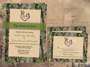 camo wedding invitations the hunt is wedding invitation sets camo deer deer