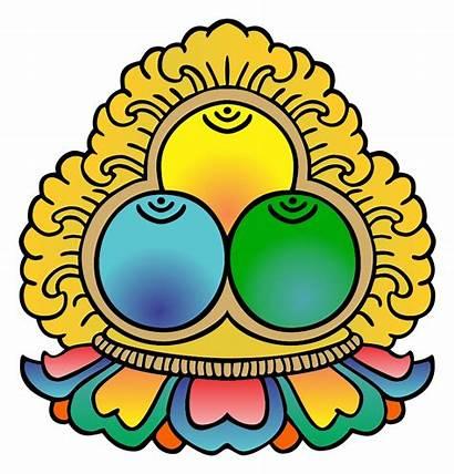 Jewels Three Symbol Buddhism Svg Buddha Sangha