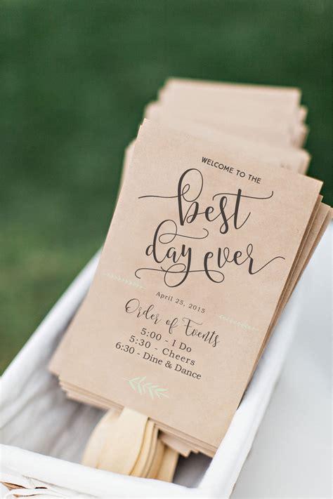 free wedding program fan printable wedding program fan diy wedding program