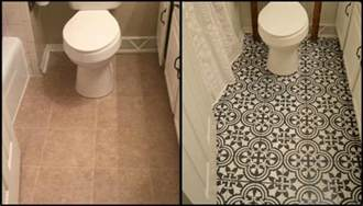 budget bathroom renovation ideas give your bathroom a new look by chalk painting floor