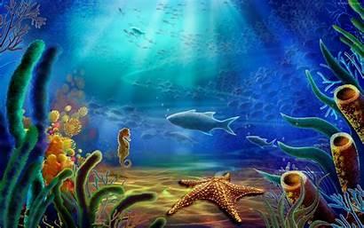 Underwater Background Ocean Under Sea Undersea Desktop