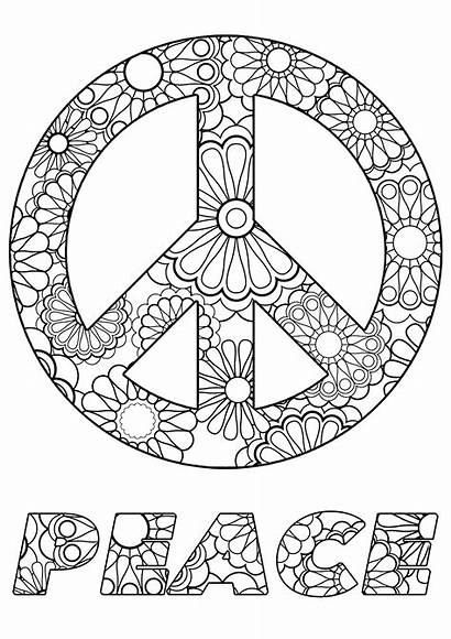 Peace Coloring Zen Stress Symbol Anti Adult