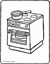 Cooker Coloring Colouring Stove Oven Drawing Kiddicolour Pages Printable Template Sketch 01v Receiver Mail Templates Pag sketch template