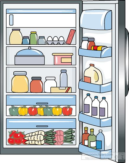 open fridge clipart black and white fridges clipart clipground