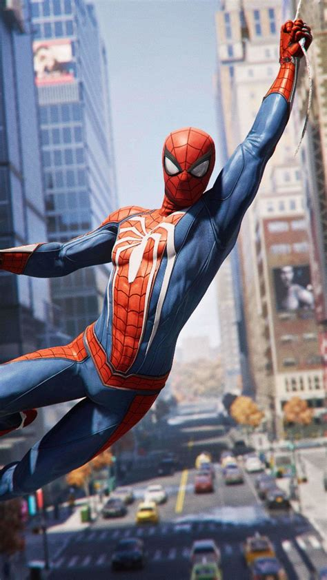 Spider Man Ps4 Video Game Hanging 2018 720x1280
