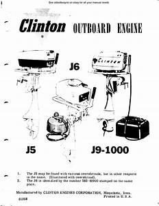 Clinton Outboard Motor J5 J6 J9