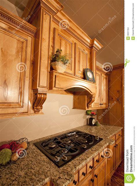 modern home kitchen cabinets range hood stock photo image  cabinet executive
