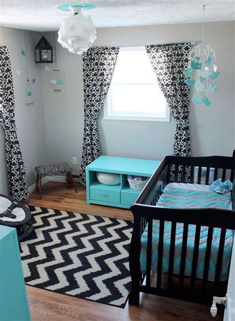 chambre turquoise et noir idées déco pour une chambre bébé rock idées cadeaux de