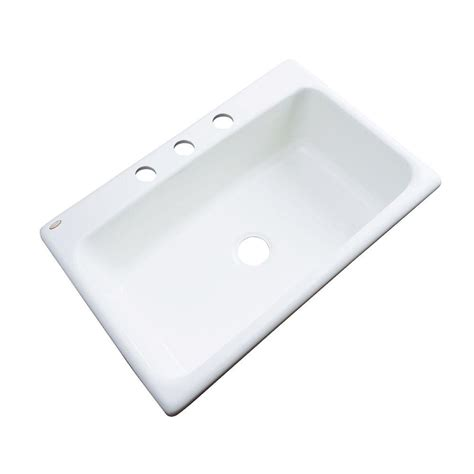 acrylic kitchen sink reviews thermocast manhattan drop in acrylic 33 in 3 single 3978