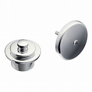 Moen tub and shower drain covers in chrome t90331 the for Bathroom tub covers